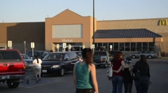 Wal-Mart exterior in Texas Stock Footage