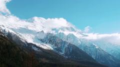 Montblanc mountains Stock Footage