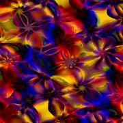 Colorful Abstract Art Background. Computer Generated Floral Fractal Pattern. - stock illustration