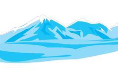 Stock Illustration of Winter mountains
