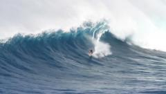 Big Wave Surfing - stock footage