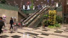 Changi International Airport in Singapore Stock Footage