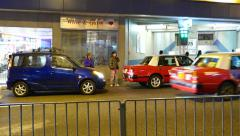 Car accident on the night street of HongKong Stock Footage