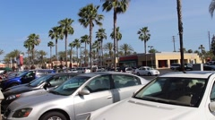 Anaheim Euclid Plaza, California Stock Footage