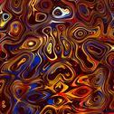 Stock Illustration of Colorful Abstract Face Background. Digital Fantasy Illustration. Fractal Image.