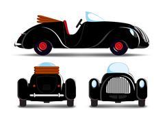 Cartoon black car Piirros