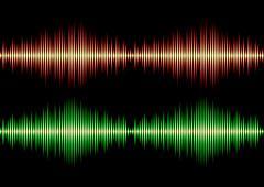 Seamless music wave pattern Stock Illustration