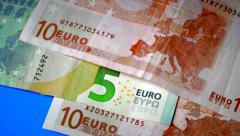 Counting Euros Macro Shot Stock Footage