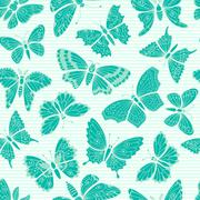 Stock Illustration of Seamless pattern with decorative butterflies