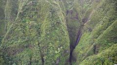 Aerial Sacred Falls, North Shore, Oahu Stock Footage