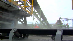 Mining Conveyor - Dust Stock Footage