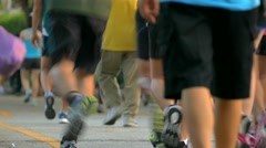 People Jogging in the Park - stock footage