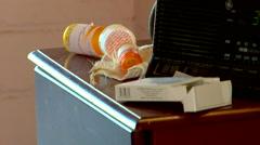 Suicide Scene Prescription Medication Stock Footage