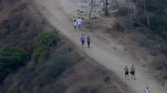 Hiking Griffith Park Los Angeles California Stock Footage