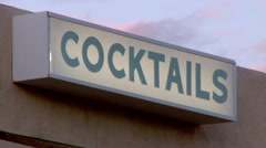 Cocktails, Bar Establishment Stock Footage