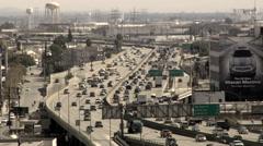 10 freeway Los Angeles California slow-mo Stock Footage