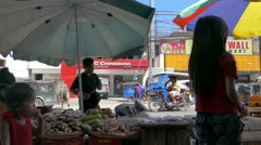 Life on Street in Puerto Princesa Stock Footage