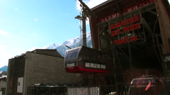 Cableway in Chamonix Stock Footage