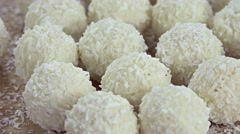 Coconut Pralines (not loopable) Stock Footage