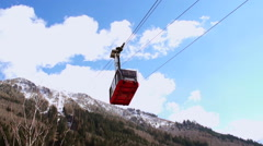 Stock Video Footage of Cableway in Chamonix