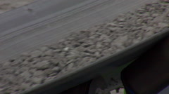 Tracking ore on a conveyor to reveal a stockpile Stock Footage