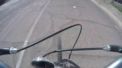 Timelapse of man on a bike ride Stock Footage