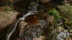Closest view of the brook flow, nice quality, separated drops visible Stock Footage