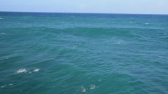 Aerial ocean low angle  North Shore, Oahu Stock Footage