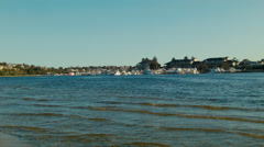 Looking Across the Swan River in Perth Stock Footage