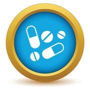 Gold tablets icon Stock Illustration