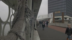 Amsterdam 4K pedestrian bridge  _8 Stock Footage