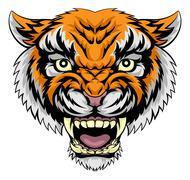 Tiger face illustration Stock Illustration