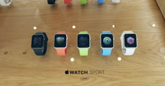 Apple Watch Sport collection Stock Footage