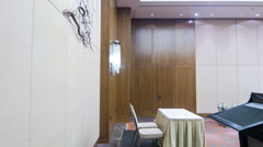 Conference hall or meeting room Stock Footage