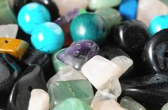 Colored Semi Precious Stones Stock Photos