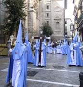 Easter procession at Granada Spain Stock Photos