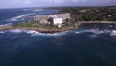 Turtle Bay Resrot, North Shore, Oahu Aerial Stock Footage