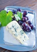 cheese and grape - stock photo