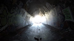 Graffiti Tunnel Los Angeles Stock Footage