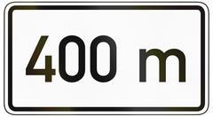 600 Meters Ahead - stock illustration
