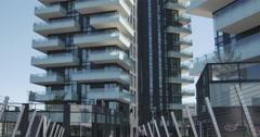 The brand new architectural complex in the Corso Como-Porta Nuova area. Stock Footage