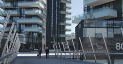The brand new architectural complex in the Corso Como-Porta Nuova area. - stock footage