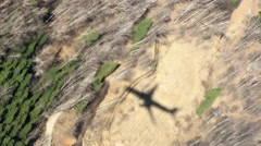 Shadow of the airplane on the ground Stock Footage
