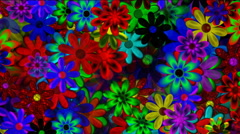 Decorative Flowers Dark Motion Background - stock footage