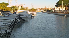 Canal on the Riviera in FREJUS, FRANCE Stock Footage