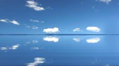 Sea and sky with clouds - stock footage