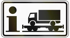Information About Motorail For Lorries - stock illustration