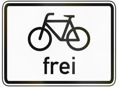 Stock Illustration of Cyclists Allowed