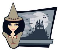 Stock Illustration of Halloween night, illustration for Halloween holiday