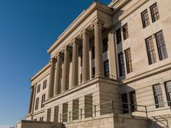 Greek Ionic Columns of the Tennessee State Capitol Building Stock Photos